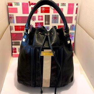 VTG LAMB Soft Leather Black Bucket/Shoulder Bag